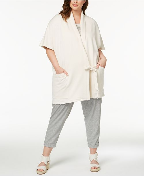 8b4acb6a10b Eileen Fisher. Plus Size Organic Cotton Wrap-Front Jacket. Be the first to  Write a Review. LAST ACT.  288.00. Now  86.33 (70% off). main image  main  image