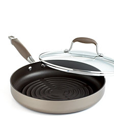 "Anolon Advanced Bronze Nonstick 11"" Covered Grill Pan"