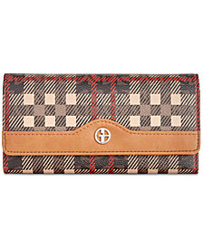 Giani Bernini Plaid Logo Receipt Wallet, Created for Macy's