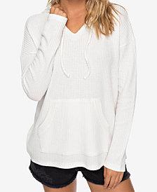 Roxy Juniors' Sedona Waffle-Knit Hoodie Pullover