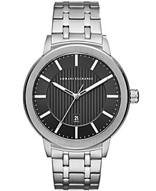 A|X Armani Exchange Men's Maddox Stainless Steel Bracelet Watch 46mm