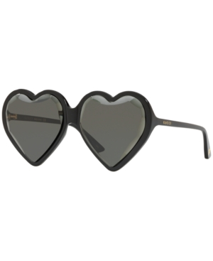 f4d2558924e9e Gucci Forever Hollywood Heart-Shaped Acetate Sunglasses In Black Shiny    Grey