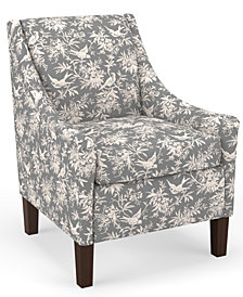 Martha Stewart Collection™ Bedford Collection Campbell Accent Chair, Quick Ship, Created For Macy's