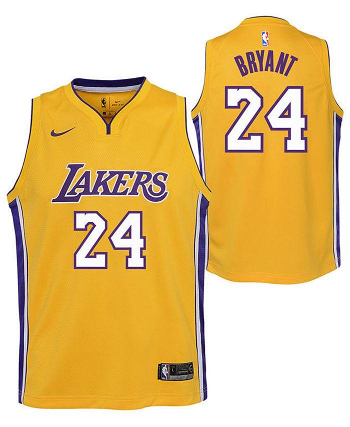 Nike Kobe Bryant Los Angeles Lakers Icon Swingman Jersey, Big Boys ...