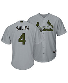 Majestic Men's Yadier Molina St. Louis Cardinals USMC Cool Base Jersey
