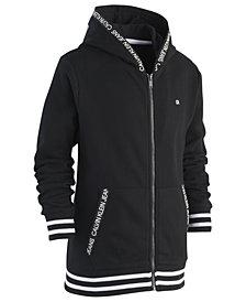 Calvin Klein Big Boys Logo-Taping Front-Zip Hoodie