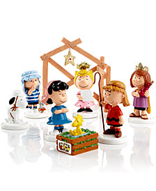 Department 56 Peanuts Village Peanuts 8 Piece Nativity Set