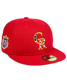 New Era Boys' Colorado Rockies Stars and Stripes 59FIFTY Fitted Cap