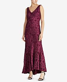 Lauren Ralph Lauren Floral-Lace Gown