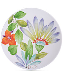 Gibson Blue Floral Dinner Plate, Created for Macy's