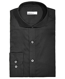 Bar III Men's Slim-Fit Stretch Easy-Care Brets Square Solid Texture Dress Shirt, Created for Macy's