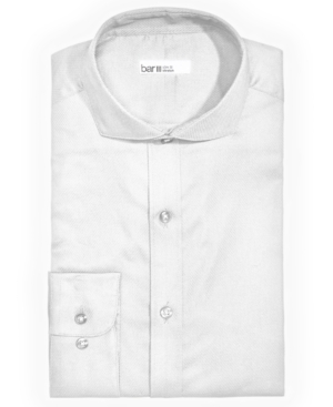 Image of Bar Iii Men's Slim-Fit Stretch Easy-Care Brets Square Solid Texture Dress Shirt, Created for Macy's