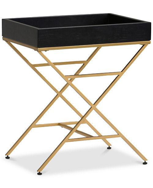 Simpli Home Deskin Accent Table, Quick Ship