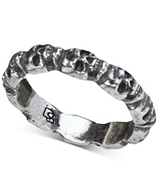 DEGS & SAL Men's Skull Band in Sterling Silver