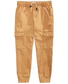 Epic Threads Little Boys Canvas Cargo-Style Jogger Pants, Created for Macy's