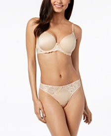 I.N.C. Perfect Coverage Smooth Floral-Lace Bra & Thong, Created for Macy's
