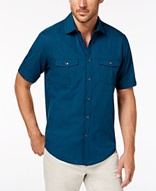 Alfani Men's Solid Dual Pocket Shirt, Created for Macy's
