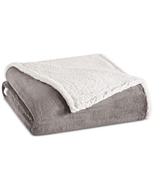 Madison Park Reversible Microlight to Berber Blankets