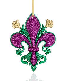Holiday Lane Mardi Gras Fleur de Lis Ornament, Created for Macy's
