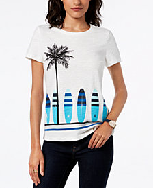 Tommy Hilfiger Surfboard Graphic T-Shirt, Created for Macy's
