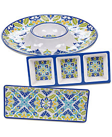 Certified International Martinique Melamine 3-Pc. Hostess Set