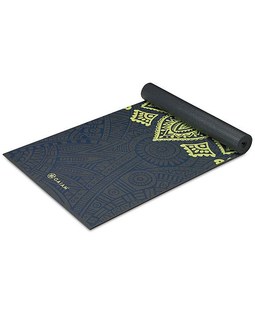 Printed Gaiam Sundial Layers 6mm Yoga Mat daa7x