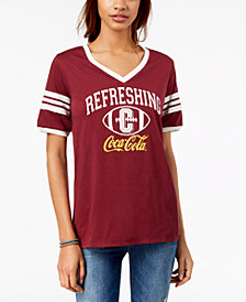 Freeze 24-7 Juniors' Coca-Cola-Graphic Varsity T-Shirt