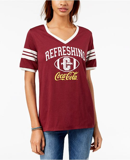 Shirt T Juniors' 7 Varsity Freeze Cola Graphic Coca 24 Burgundy O8nwA0qT