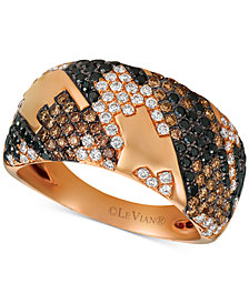 Le Vian Exotics® Houndstooth™ Diamond Ring (1-1/10 ct. t.w.) in 14k Rose Gold