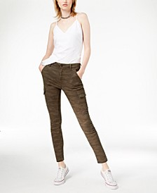 Charlie Camouflage-Print Ankle Skinny Jeans