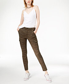 Joe's Jeans Charlie Camouflage-Print Ankle Skinny Jeans
