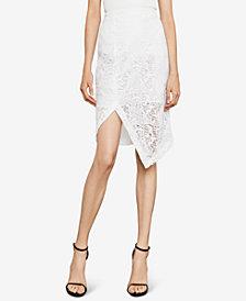 BCBGMAXAZRIA Lace Asymmetrical Pencil Skirt