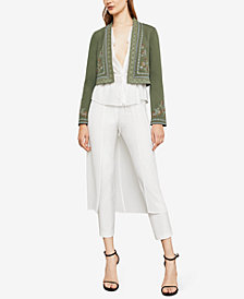 BCBGMAXAZRIA Embroidered Cropped Jacket