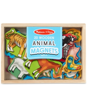 Melissa and Doug Toy, Magnetic Wooden Animals