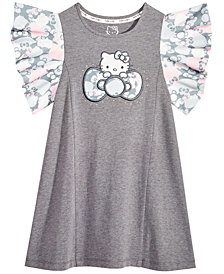 Hello Kitty Little Girls Flutter-Sleeve Dress