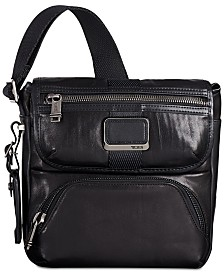 Tumi Men's Alpha Bravo Barton Leather Crossbody Bag