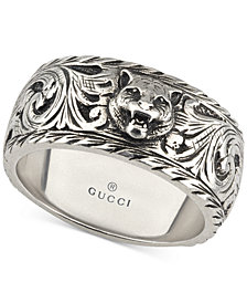 Gucci Gatto Filigree Ring in Sterling Silver YBC433571001015