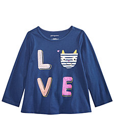First Impressions Toddler Girls Graphic-Print Cotton Pocket T-Shirt, Created for Macy's