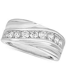 Men's Diamond Swirl Band (1 ct. t.w.)