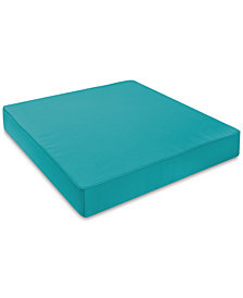 Soft-Tex 24x24 Teal Outdoor Memory Foam Seat Cushion with Sunbrella Fabric, Quick Ship