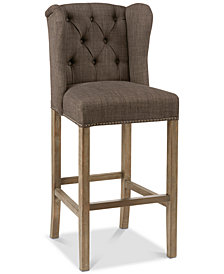 "Jodi Tufted Wing 30"" Bar Stool, Quick Ship"
