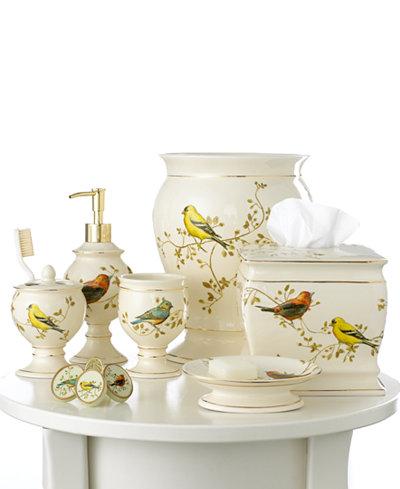Avanti Bath Accessories Gilded Birds Collection