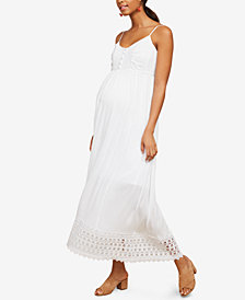 Motherhood Maternity Lace-Trim Maxi Dress
