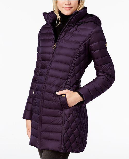 df9c19252 Michael Kors Hooded Packable Down Puffer Coat & Reviews - Coats ...