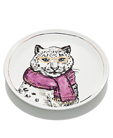 The Cellar Leopard Salad Plate, Created for Macy's