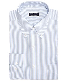 Men's Classic/Regular Fit Stretch Wrinkle-Resistant University Stripe Dress Shirt, Created for Macy's