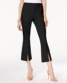 I.N.C. Cropped Split-Hem Pants, Created for Macy's