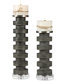 Karun Concrete Candleholders, Set of 2