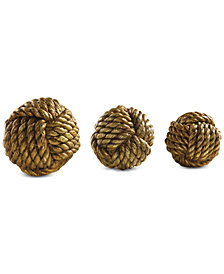 Uttermost Tali Rope Spheres, Set of 3