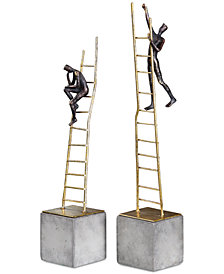 Uttermost Ladder Climb Sculpture, Set of 2